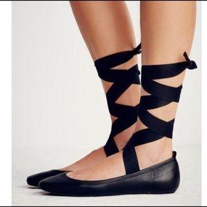 Free People Degas Black Lace Up Shoe